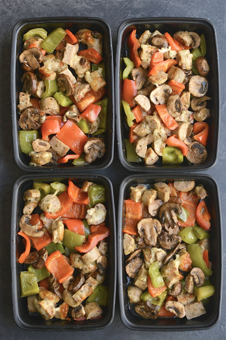 meal prep sausage pepper pizza casserole gf low carb low cal skinny fitalicious. Black Bedroom Furniture Sets. Home Design Ideas