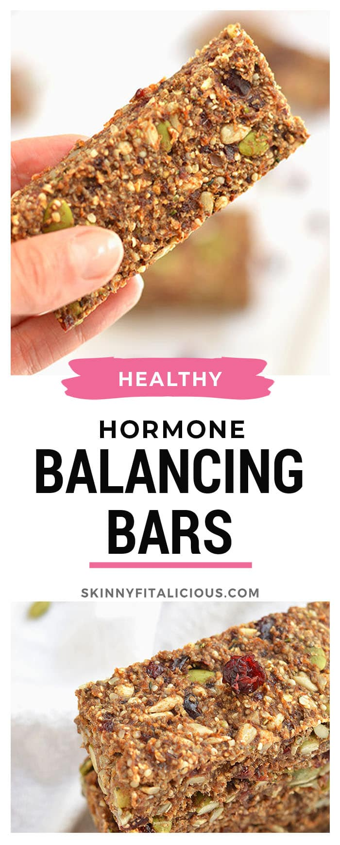 Vegan Hormone Balancing Bars are the perfect snack for getting omega-3's for hormone function. Proper hormone function is key to weight loss & good health. Vegan + Gluten Free + Low Calorie!