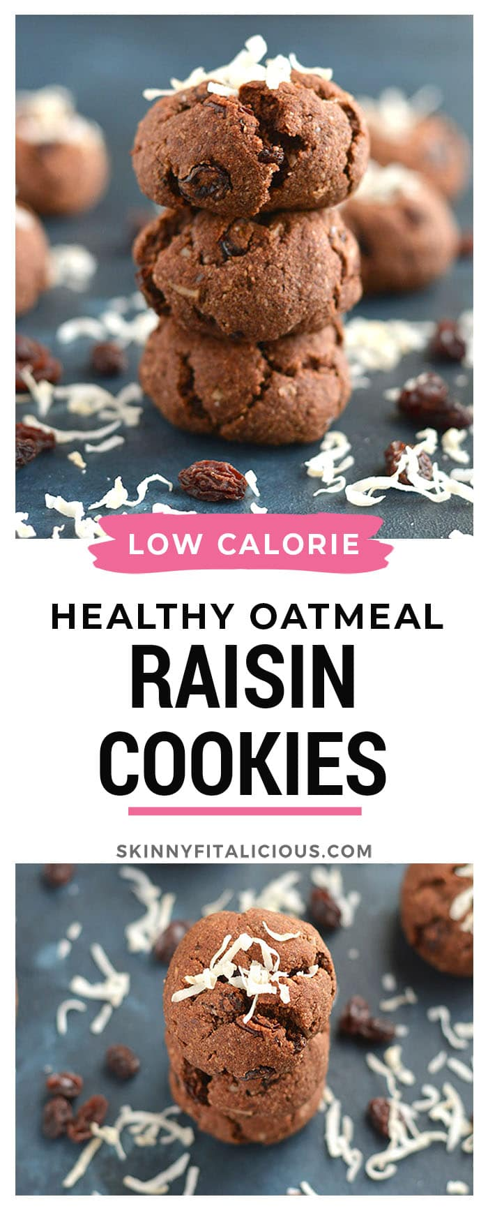 Grain Free Oatmeal Raisin Cookies! Make cookies part of a healthy snacking routine with this Paleo recipe madewith no refined sugar, oil andoatless. They taste like the real deal! Paleo + Gluten Free + Low Calorie