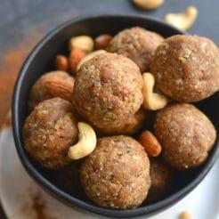Nutty Collagen Protein Bites {GF, Low Carb, Paleo}