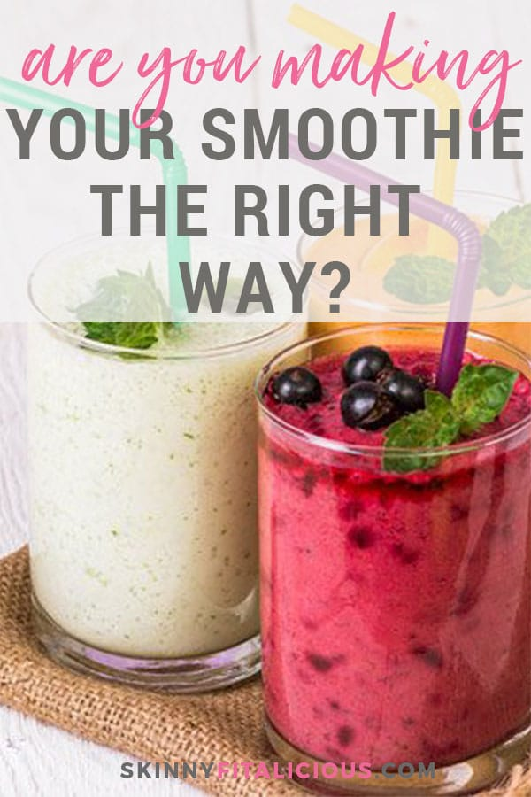 Are you making your smoothie the right way? As with any food, smoothies are easy to go overboard with the wrong foods. Find out how to make a better for you smoothie!