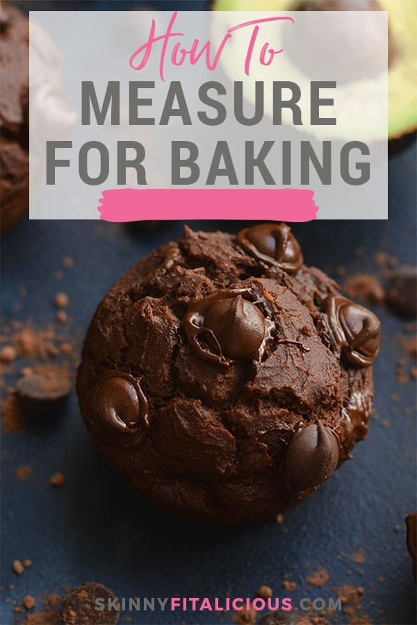 How to measure for baking! Baking requires more precision than cooking. You can't throw a dash of baking soda and a sprinkle of flour and pray it turns out. There's more science involved, and with gluten free baking, you have to be even more careful than with regular flours as some of them as more dense.