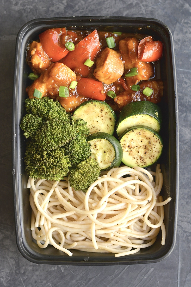 meal prep general tso's chicken gf low cal  skinny