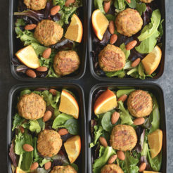 Meal Prep Asian Salmon Meatballs {Paleo, Low Carb, GF}