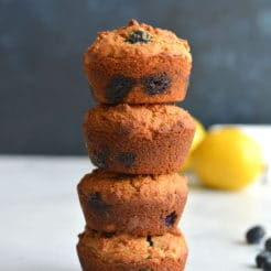 Almond Flour Blueberry Muffins {Paleo, Low Carb, GF}