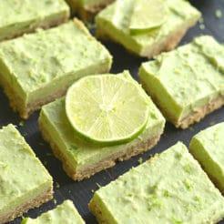 Avocado Key Lime Pie Bars {GF, Low Cal}