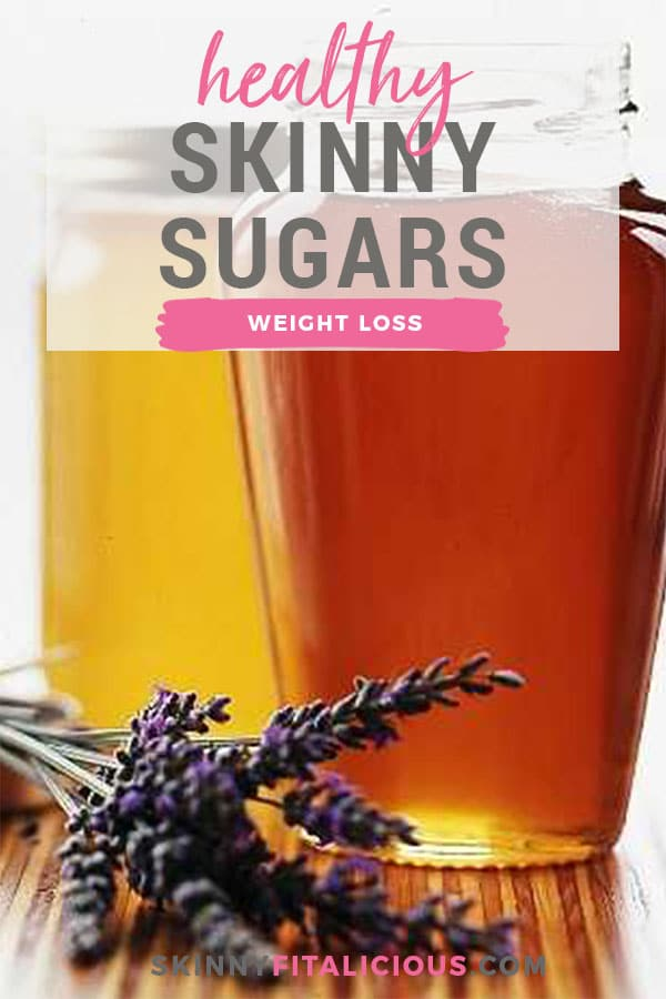 These 6 Healthy Skinny Sugar substitutes I recommend for losing weight. These offer an array of health benefits that go beyond satisfying your sweet tooth!
