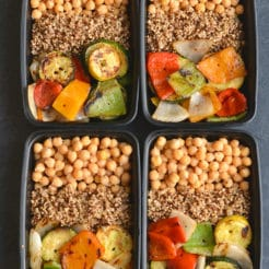 Meal Prep Chickpeas & Grilled Veggies {GF, Vegan, Low Cal}