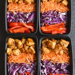 Meal Prep Thai Almond Chicken {GF, Paleo, Low Carb, Low Cal}