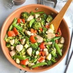 Clean Out The Fridge Chicken Veggie Stir Fry {Paleo, GF, Low Cal}