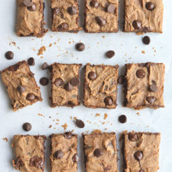 Healthy Peanut Butter Chocolate Blondes {Vegan, Low Cal, GF}