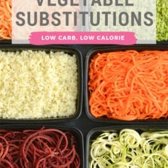 Low Carb Low Calorie Veggie Substitutions