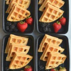 Meal Prep Almond Flour Waffles {Paleo, Gluten Free}