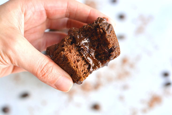 Chocolate Pumpkin Almond Flour Muffins! These muffins are Paleo, dairy-free and lightlysweetenedwith maple syrup. A great gluten free snack anytime of day! Paleo + Gluten Free + Low Calorie