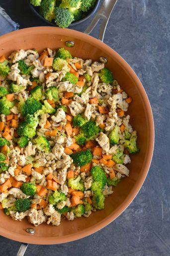 Turkey Sweet Potato Broccoli Hash {Paleo, Low Carb, GF}
