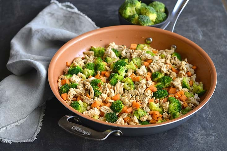 Turkey Sweet Potato Broccoli Hash is a quick and easy, egg-free breakfast that the whole family will love. Perfect for meal prep and increasing veggies. Filling, hearty and full of flavorful spices. Paleo + Whole30 + Gluten Free + Low Carb + Low Calorie