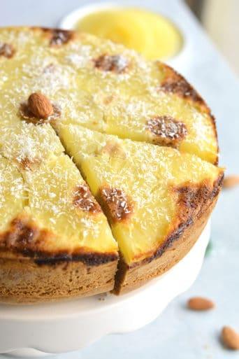 Almond Flour Upside Down Pineapple Cake {Paleo, GF}