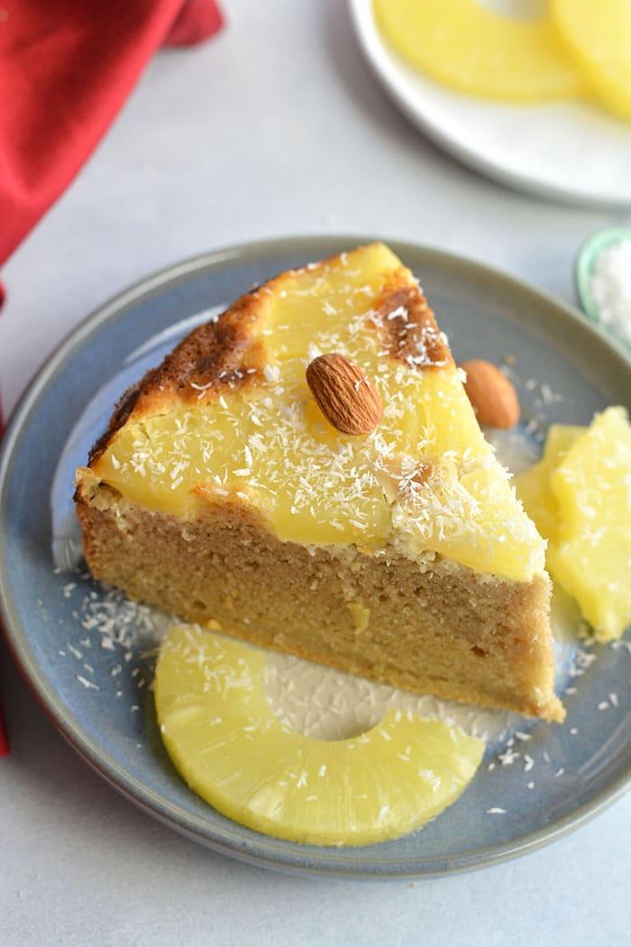 Almond Flour Upside Down Pineapple Cake Paleo Gf