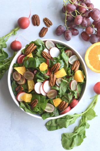 Healthy Holiday Salad {Paleo, GF, Low Cal, Vegan}