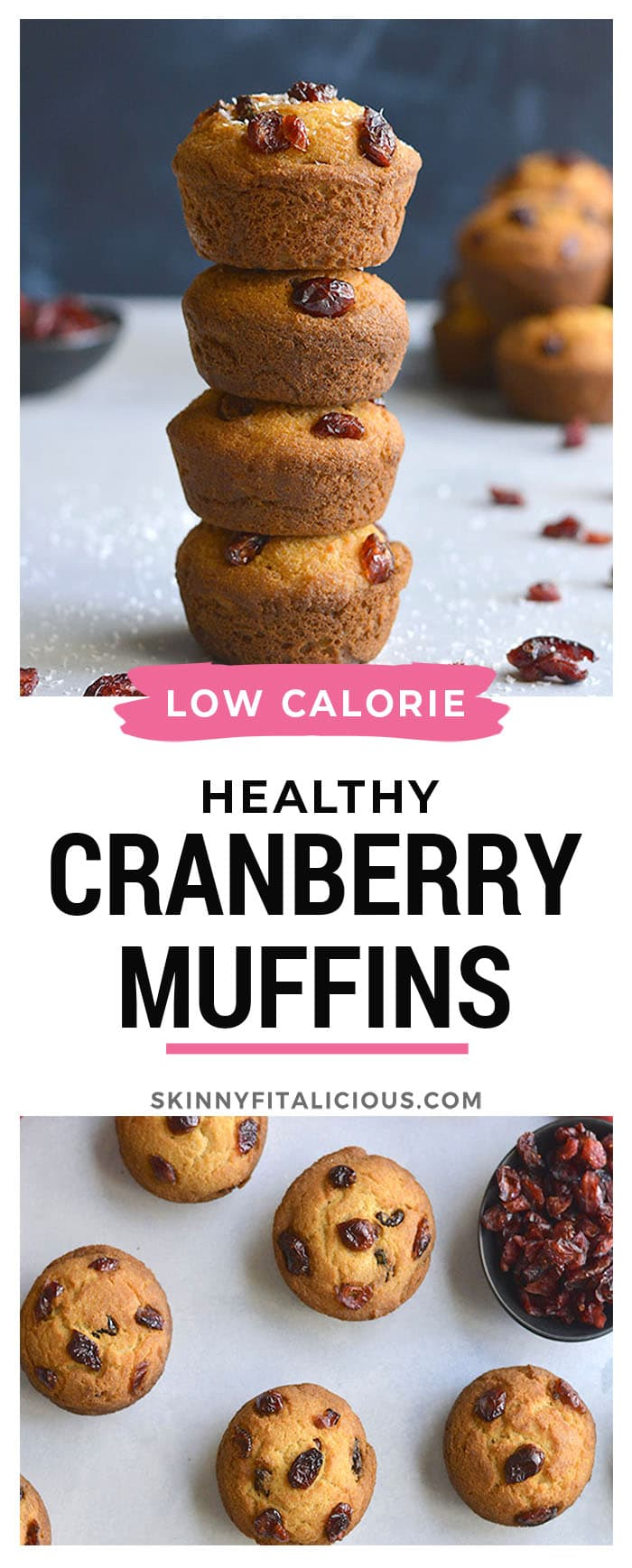 Delicious Coconut Cranberry Muffins made with Greek yogurt, coconut and oat flour are lightly sweetened. A healthier gluten free breakfast or snack on the go.