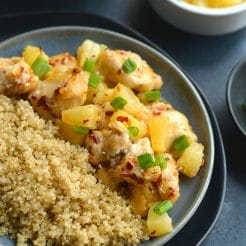 Pineapple Firecracker Chicken With Quinoa {GF, Low Cal}
