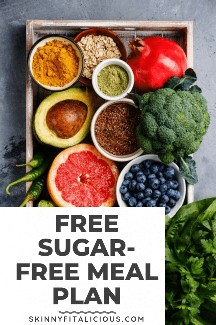 A 7-day meal plan free of added sugar made with real food that will keep you nourished and full!