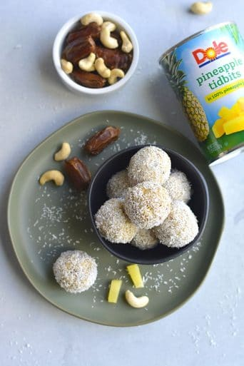 Coconut Cashew Pineapple Bites {Vegan, Paleo, GF, Low Cal}