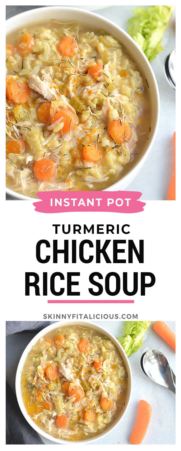 Instant Pot Turmeric Chicken Rice Soup Gf Low Cal