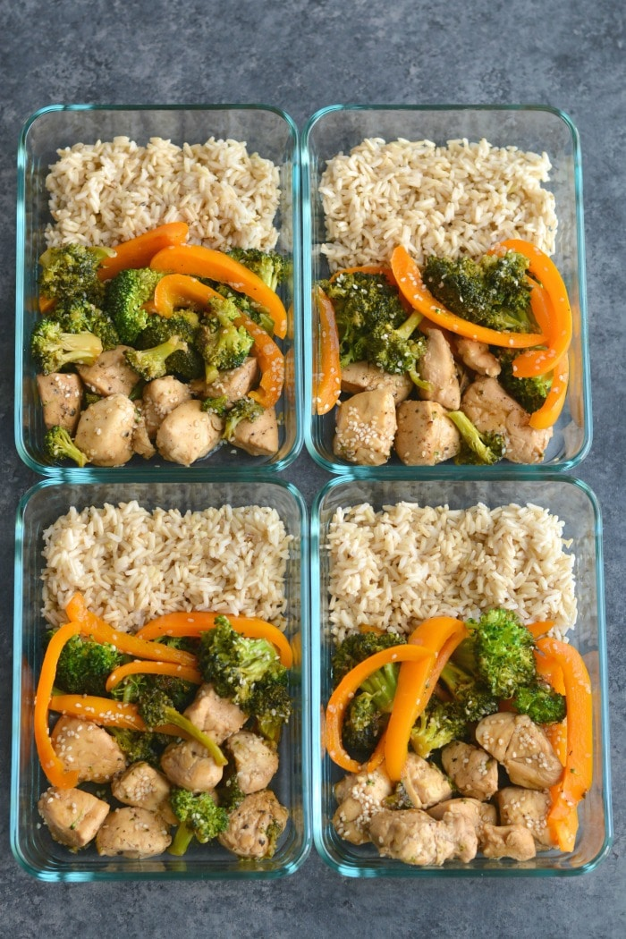 Meal Prep Chicken Teriyaki Broccoli! A classic recipe made with less sugar and soy free. An easy recipe that's quick, delicious and nutritious! Gluten Free + Low Calorie