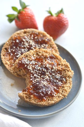 Gluten Free English Muffin {Low Cal, GF, Vegan}
