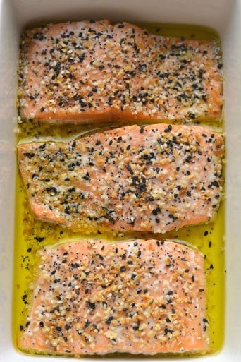 Everything Bagel Salmon {Low Carb, Paleo, Whole30, GF, Keto, Low Cal}