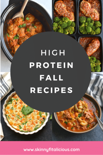 These 30 High Protein Fall Recipes include a variety of breakfast, lunch and dinner recipes. Delicious, comforting, healthy recipes perfect for fall.