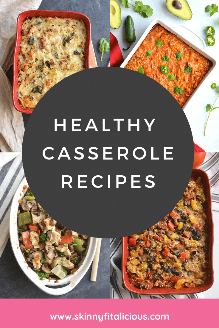 Healthy Casserole Recipes made lighter, nutritious and gluten free. These healthy recipes are low sugar, easy and comforting dinner meals.