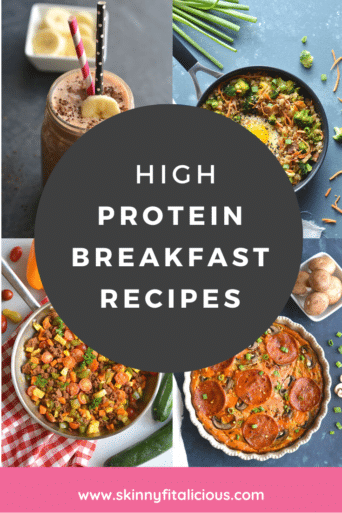 We all know that breakfast is the most important meal of the day!  These high protein breakfasts will keep you full and satisfied and keep cravings away.