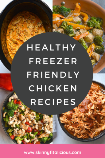 These healthy freezer friendly chicken recipes are low calorie, simple to make made with wholesome ingredients. All recipes are gluten free with several options for low carb and Paleo too!