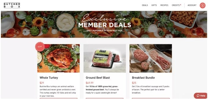 Butcherbox member deals