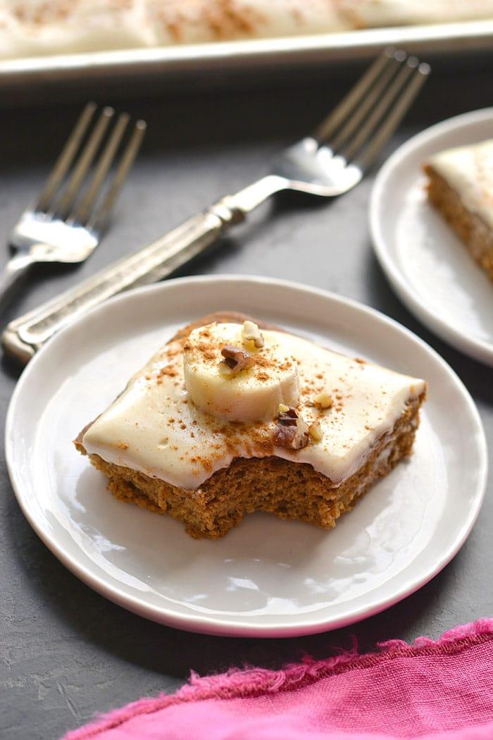 Healthy Banana Oat Cake Gf Low Calorie Skinny Fitalicious