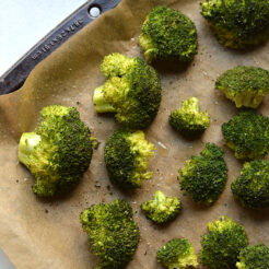 broccoli roasted on a sheet pan