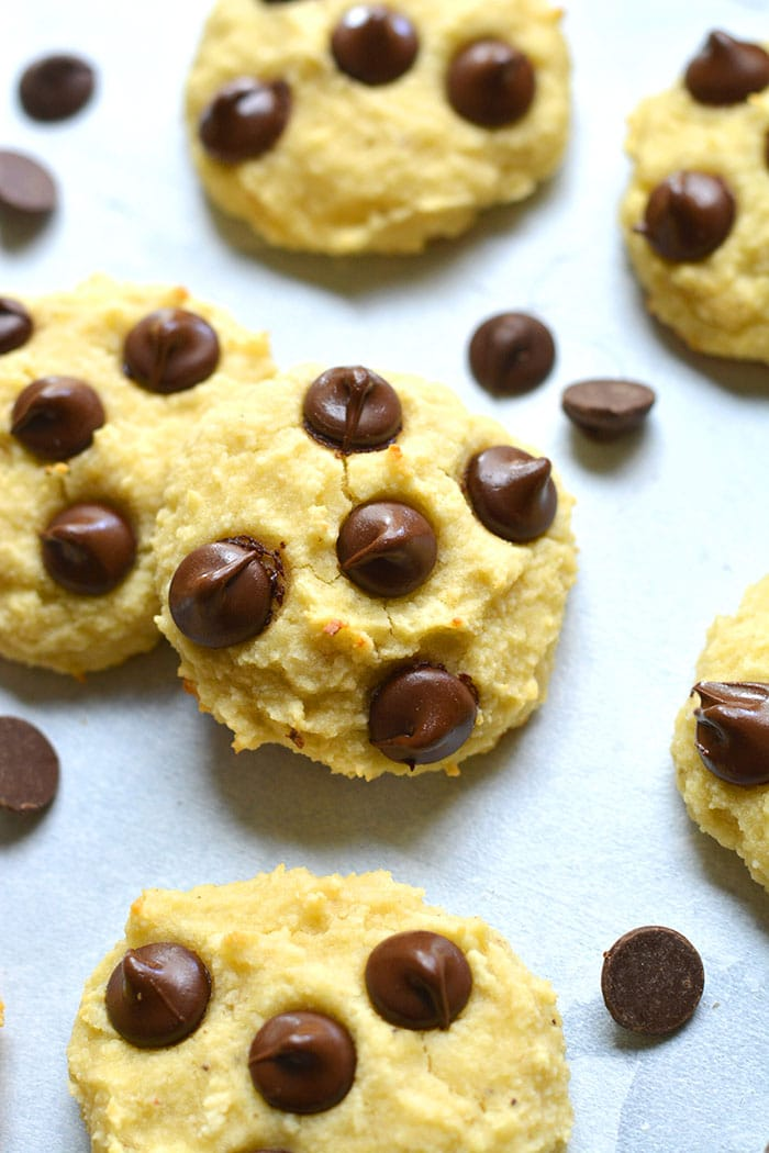 Healthy Banana Almond Flour Cookies are a low calorie cookie recipe made better for you, gluten free and dairy free with just 4 ingredients!