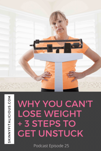 """If you've ever said, """"I can't lose weight, follow a diet etc."""" then learn the MOST important question to ask in this Dish on Ditching Diets podcast."""
