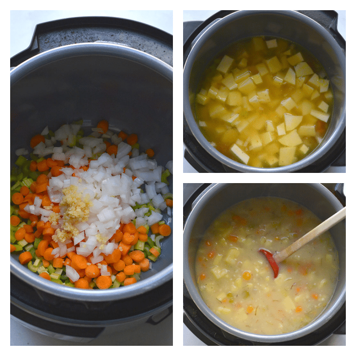 steps for potato soup in instant pot