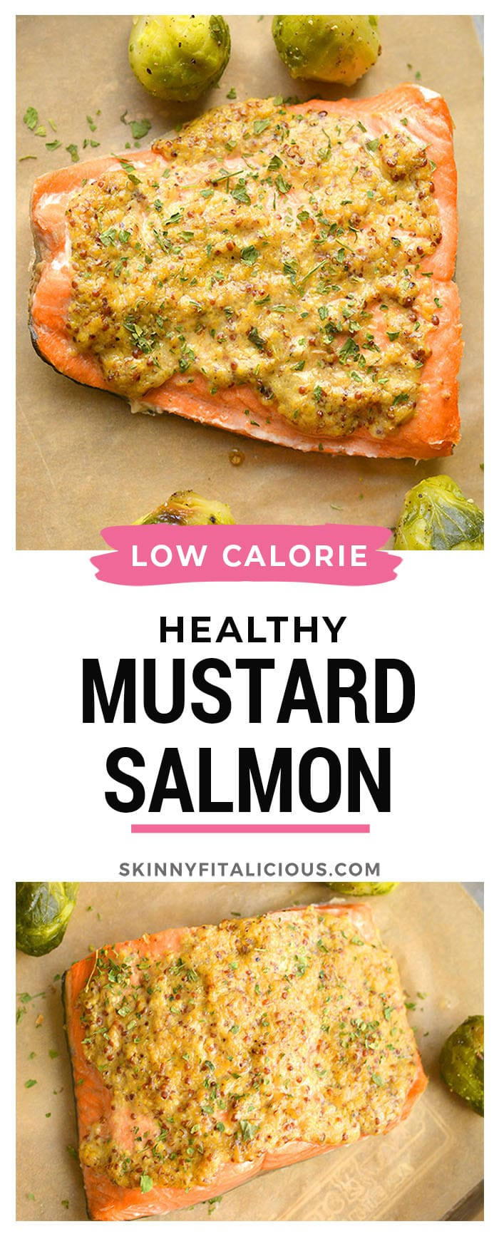 Healthy Air Fryer Mustard Salmon is a delicious mustard-glazed salmon recipe ready in less than 10 minutes. Pair it with a vegetable and another side for a simple nutrient dense meal that's naturally low calorie and gluten free.