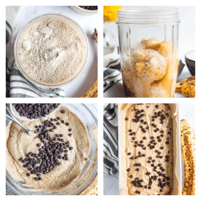 banana oat bread method or steps