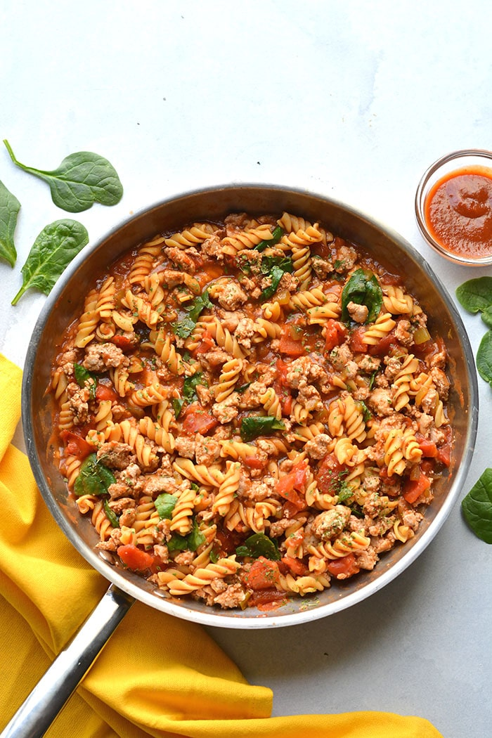 Healthy Monterrey Chicken Pasta {GF, Low Calorie} - Skinny ...