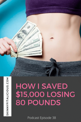 In this Dish on Ditching Diets podcast, hear how I lost $15,000 losing weight, how losing weight saves you money and time.