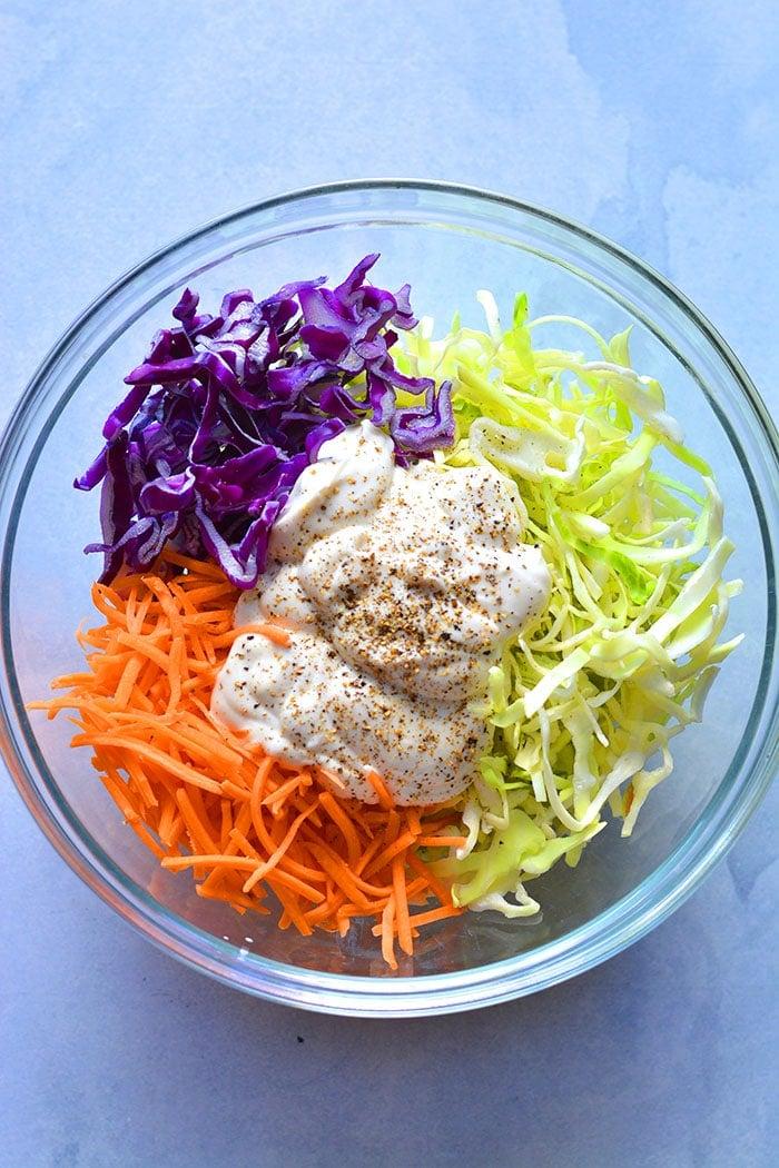 how to make a coleslaw with greek yogurt instead of mayo